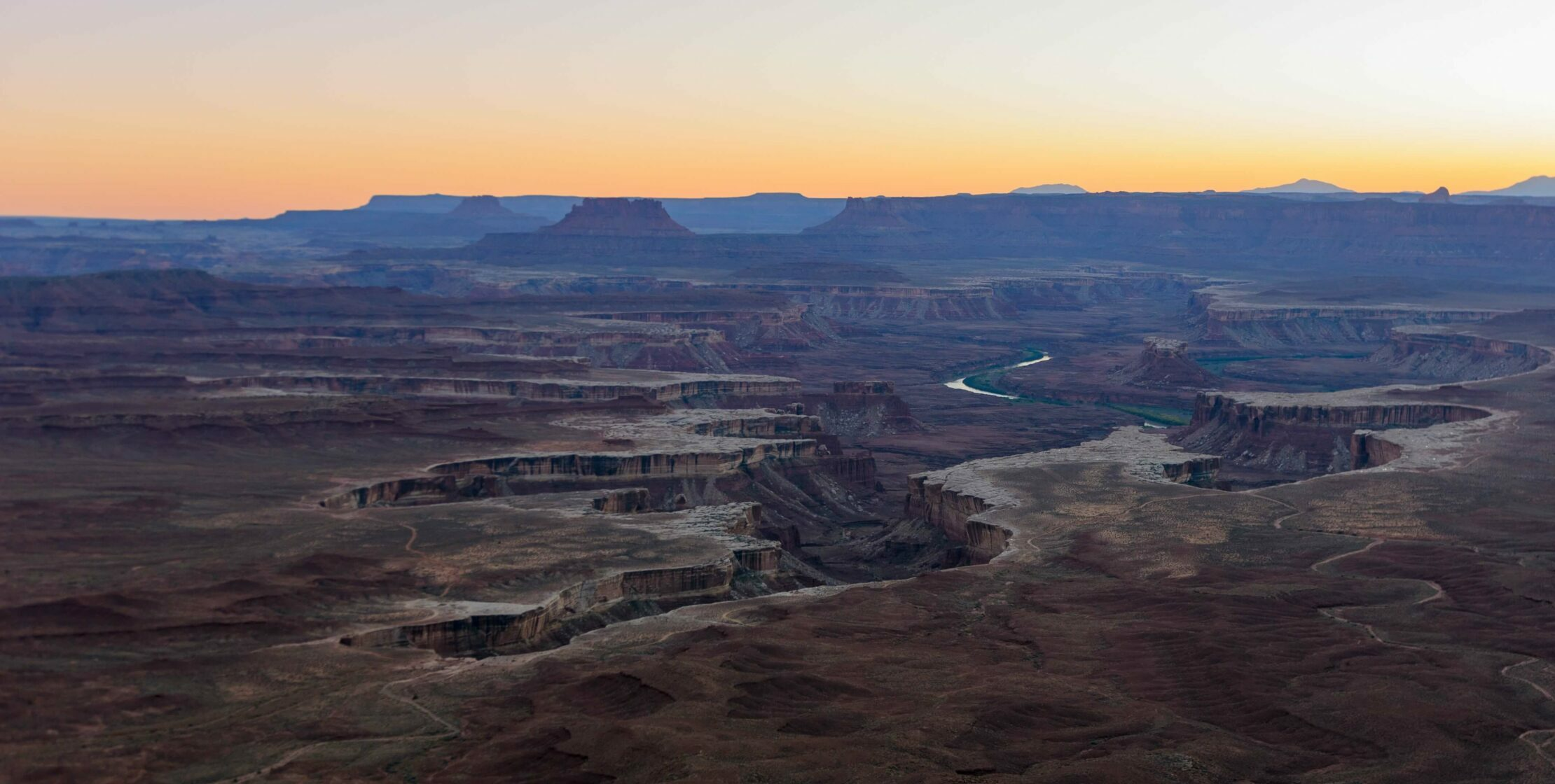 a high vantage point of canyonlands national park