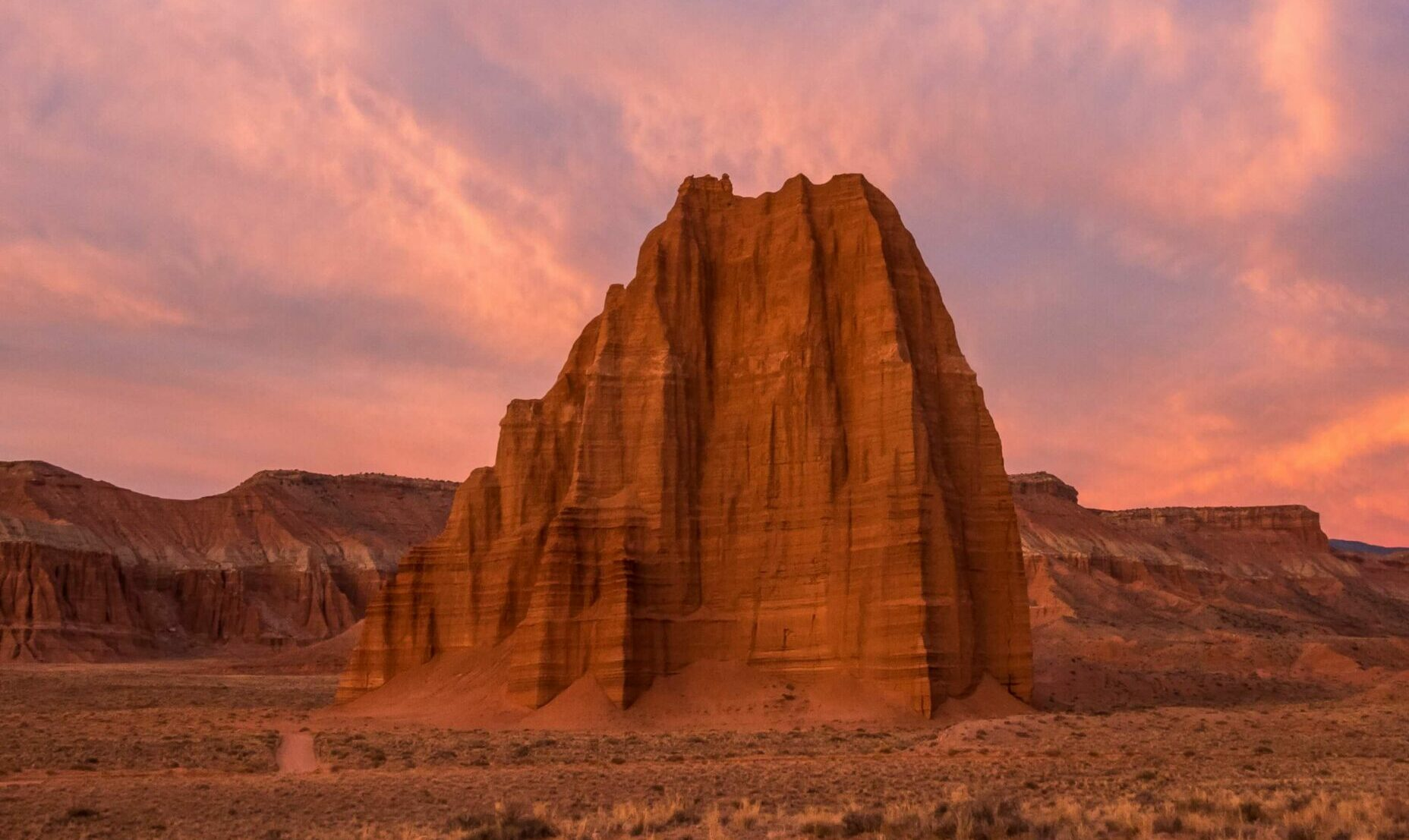 capitol reef national park at sunset